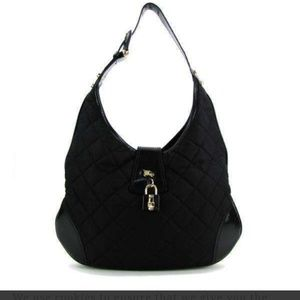 Burberry hobo quilted nylon purse